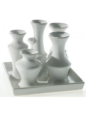 "Chic Vase Square 5.5"" White"