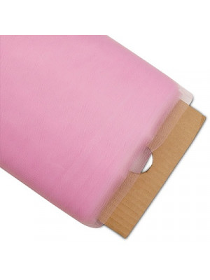 """Tulle Netting 54""""x40yd Pink"""