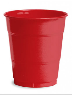 12oz Plastic Cup Classic Red