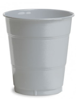12oz Plastic Cup Shimm Silver