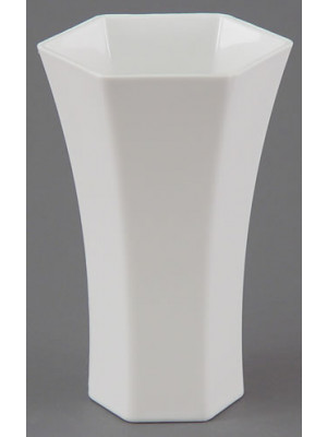 "Rose Vase 8"" High White"