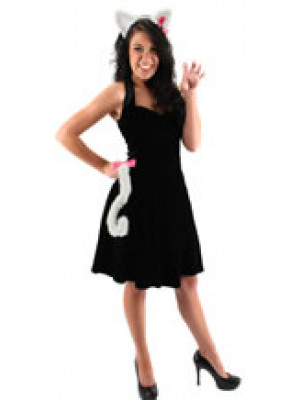 Cute Kitty Ears & Tail Set Whi