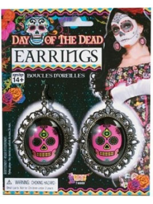 Earrings Red Skull DOTD