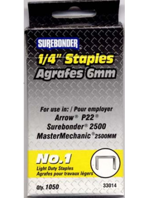 #1 Staples 1/4in 1050/Bx
