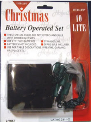 Battery Set 10Lt Clear Grn Cor