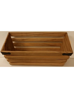 Wood Crate Rectangl 13x6.5x5""
