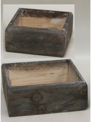 Wood Container Sq w/Liner x2