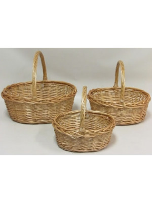 Basket Willow Oval Nat Med
