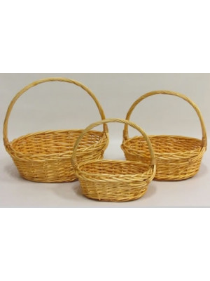 Basket Willow Oval Honey x3