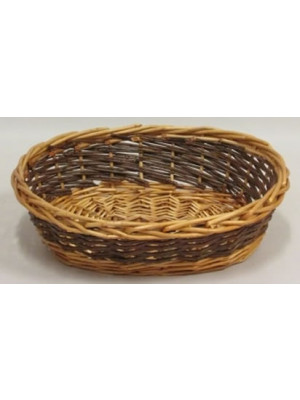 "Willow Tray Oval 14"" 2Tone"