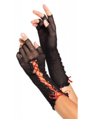 Gloves Fingrlss Fshnet Blk/Rd