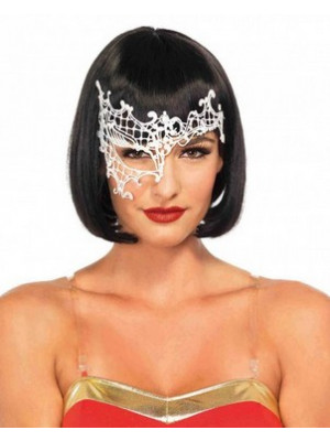 Daring Applique Eye Mask White