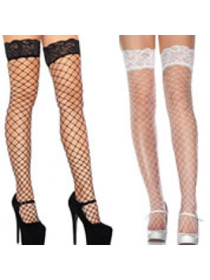 Stocking Net w/Lace Top Blk