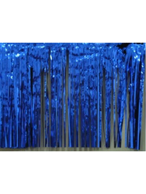 Curtain 3'x8' 1ply R Blue