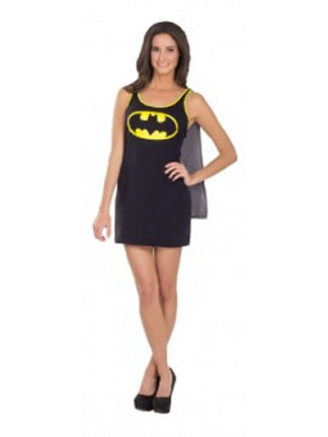Batgirl Tank Dress Adlt Large