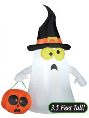 Airblown Ghost w/Witch Hat