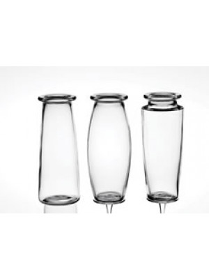 "Bouquest Vase 9"" Trio Clear"