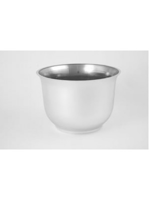 "Planter 8"" Rd Silver 6"" Hgt"