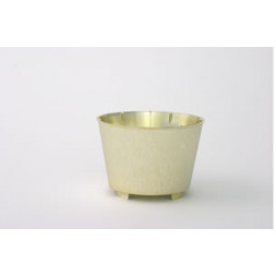 "Planter Round Gold 4"" High"