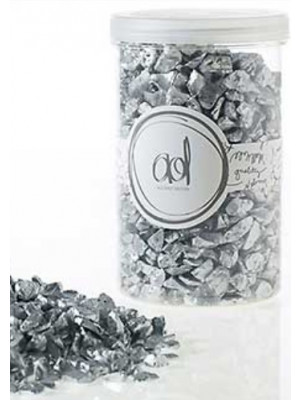 Crushed Glass 46oz Silver