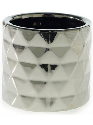"Architect Pot 5.75""x 5"" Silver"