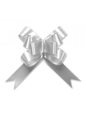 "Butterfly Pull Bow 2"" Silver"