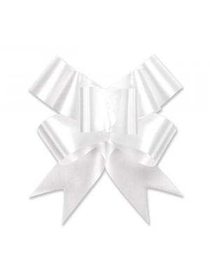 "Butterfly Pull Bow 4"" White"