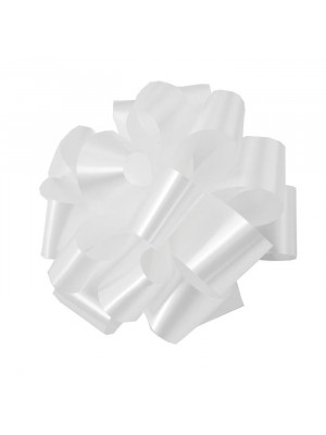 """Pre-Notched Bow 6"""" White"""
