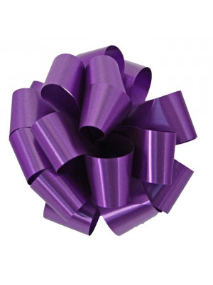 "Pre-Notched Bow 6"" Purple"