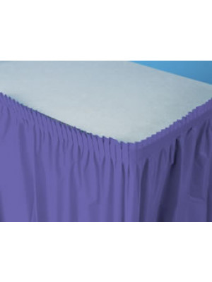 Tableskirt 14ft Purple