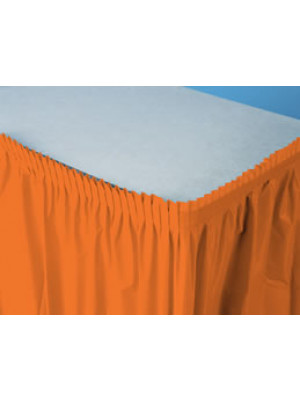 Tableskirt 14ft Sunkis Orange