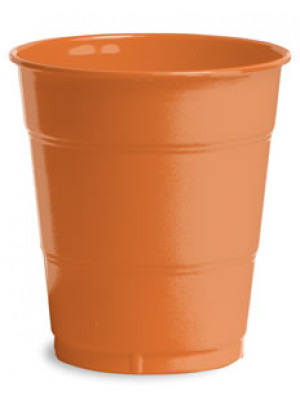 12oz Plastic Cup Snkis Orange