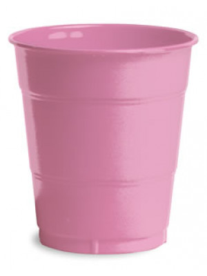 12oz Plastic Cup Candy Pink