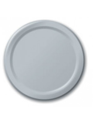 "7"" Paper Plate Shimmer Silver"