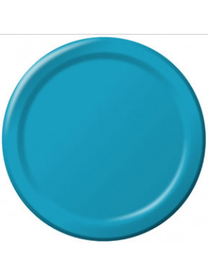 "7"" Paper Plate Turquoise"