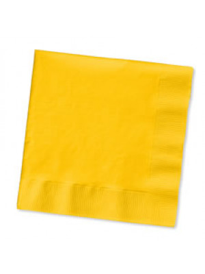 Bev Napkin School Yellow