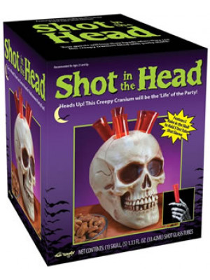 Shot in the Head Shot Glass