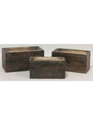 Wood Container Rect x3