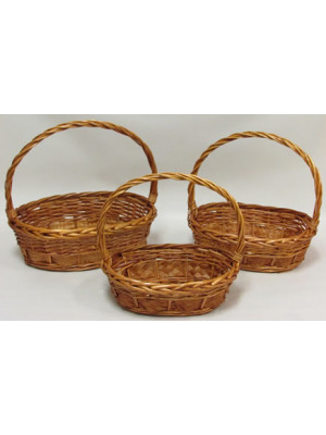 Basket Willow Oval Honey Lge