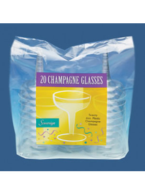 Champagne Glass 4oz Clear