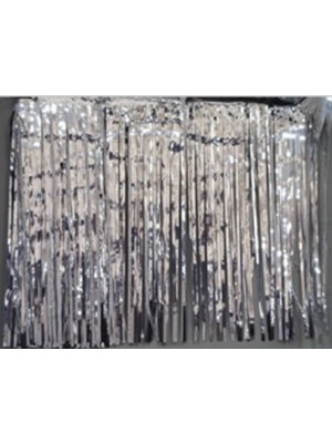 Curtain 3'x8' 1ply Silver
