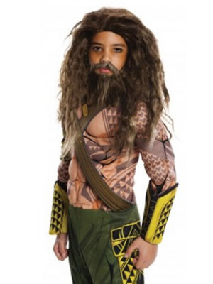 Aquaman Beard & Wig Set Child