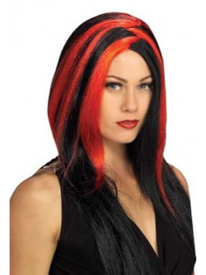 Miss Sinister Black/Red Wig