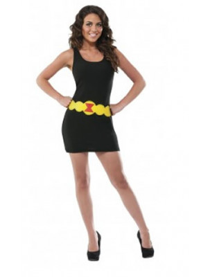 Black Widow Dress Adlt Lg