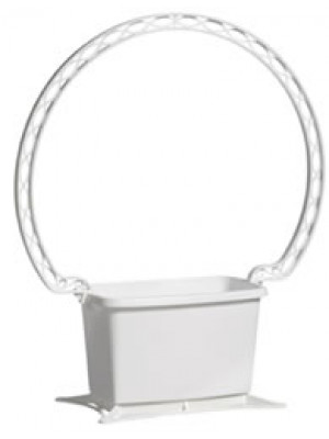 Basket Rectangle w/handle Wht