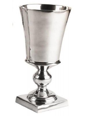 "Footed Metal Vase 10 1/4"" Silv"