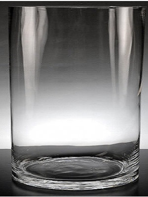 """Cylinder 10"""" Clear"""